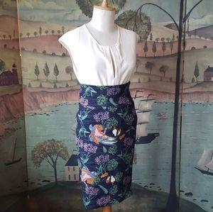 LuLaRoe Exotic Bird Skirt XS